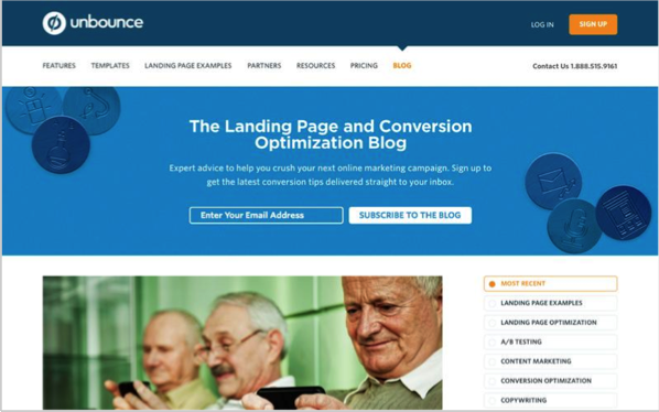 Unbounce - Top 50 Marketing Blogs