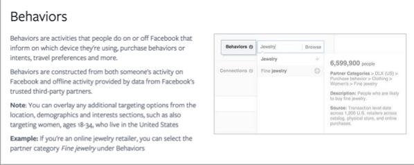 Пример поведения для продвижения ваших тестов на Facebook