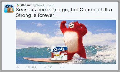 Charmin Twitter management tips example