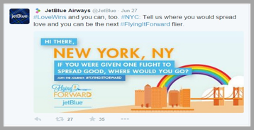 JetBlue Airways Twitter management tips example