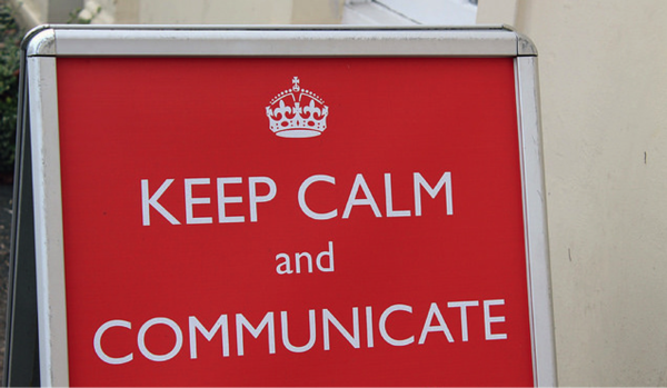 Keep calm and communicate - start an online business image