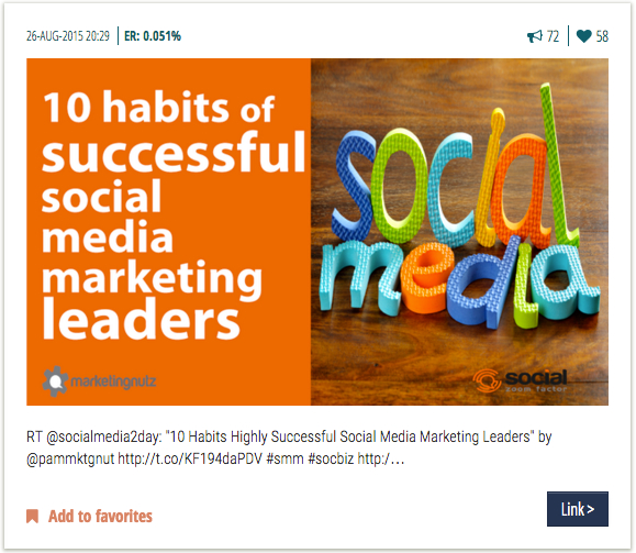 Pam Moore - share great content on Twitter