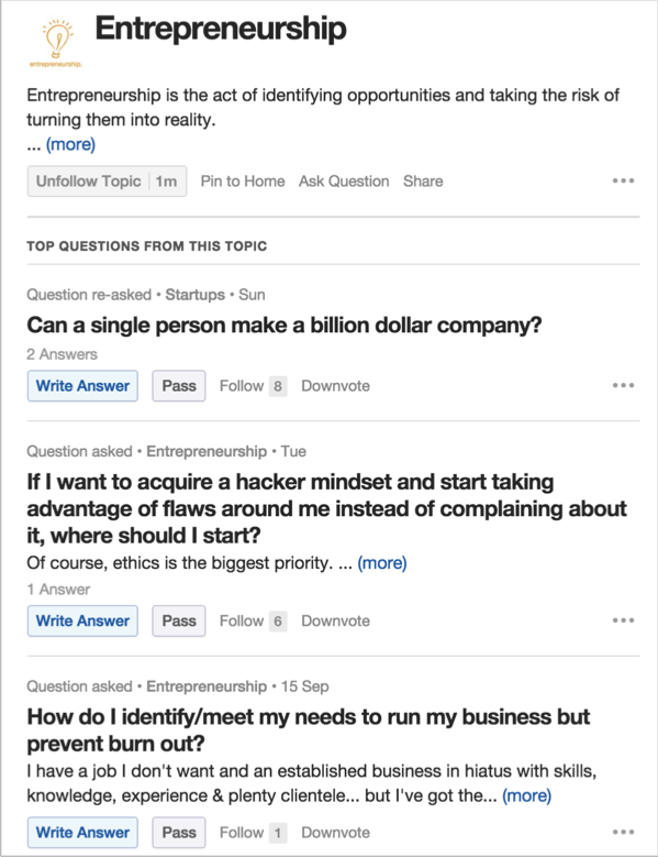 Quora image for how to improve your content marketing