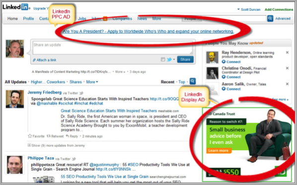 Top bar how to advertise your business on linkedin
