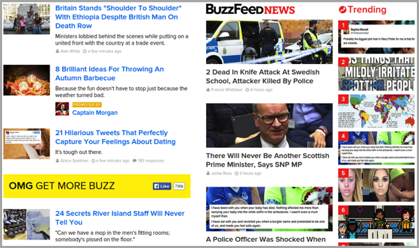 Buzzfeed example of content that converts