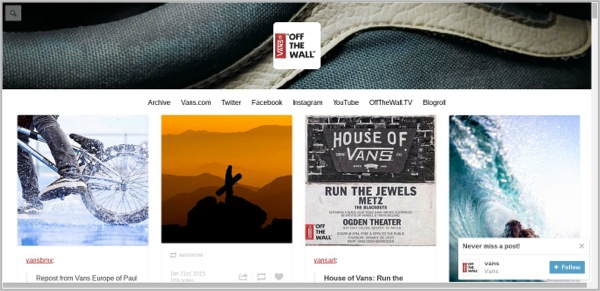Vans good example of content marketing