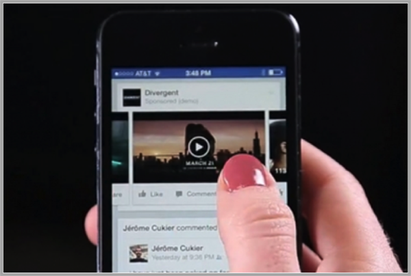 Facebook on mobile for mobile video advertising