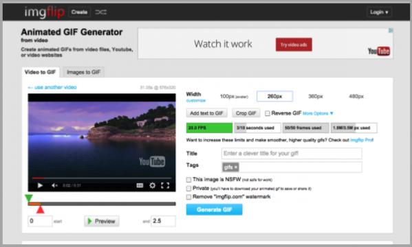 Imgflip blogging tools for custom content