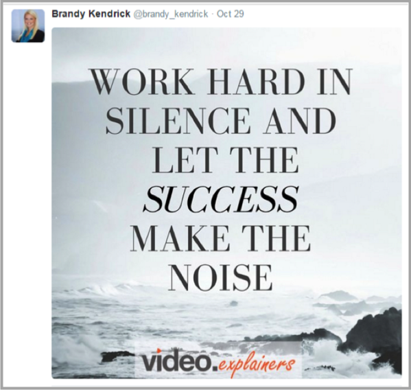 Motivational saying example 1 - how to make your content go viral