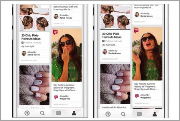 Pinterest for mobile video advertising