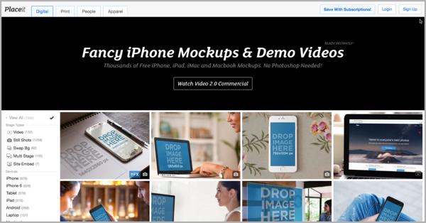 Placeit - blogging tools for custom content