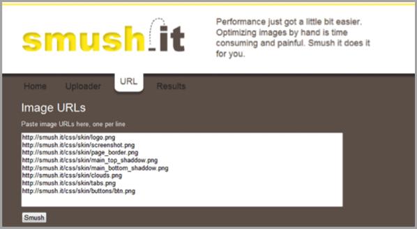 Smush.it blogging tools for custom content