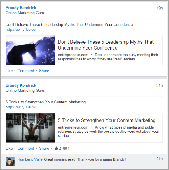 Social media post example 2 - how to make your content go viral