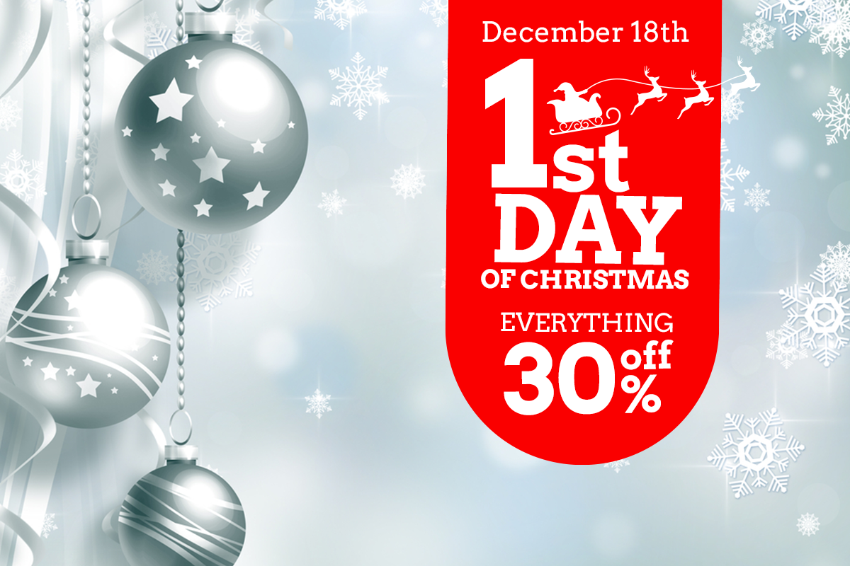 1st day sale - christmas spirit to your social media