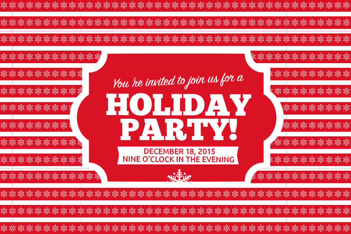 Holiday party - christmas spirit to your social media
