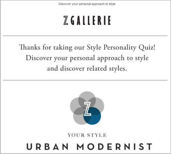 Urban Galerie example of social media quiz