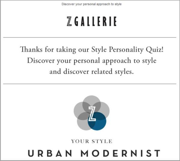 Urban Galerie example of social media quiz