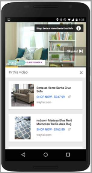 YouTube on mobile for mobile video advertising