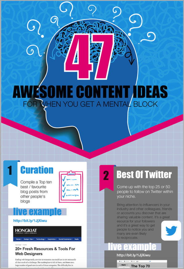 Awesome content ideas infographic for serious bloggers