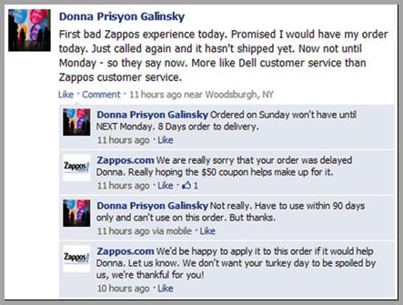Donna Prisyon Galinsky example of using customer reviews