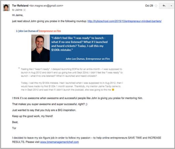 Email for blogger outreach