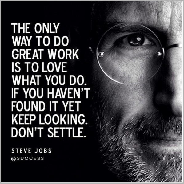 Steve Jobs quote for how to recycle blog posts