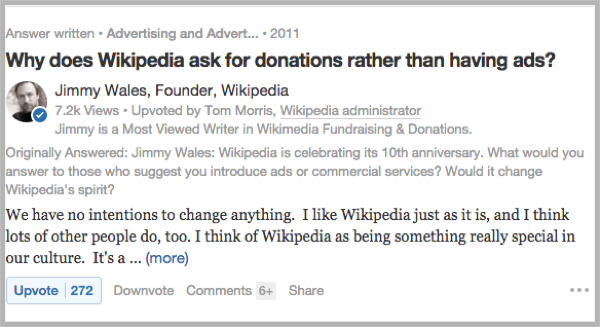 Wikipedia screenshot for how to recycle blog posts