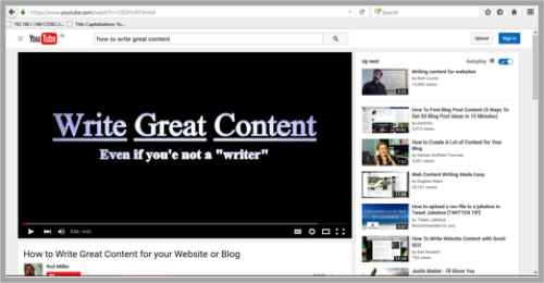 YouTube - example of world class content marketers