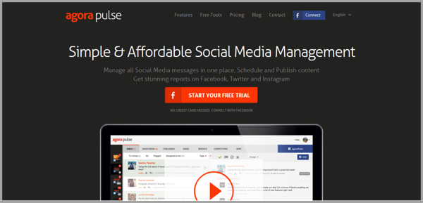 Agora Pulse - example of social media management tools