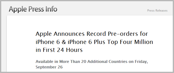 Apple Pre-Orders - Pre-Launch Buzz