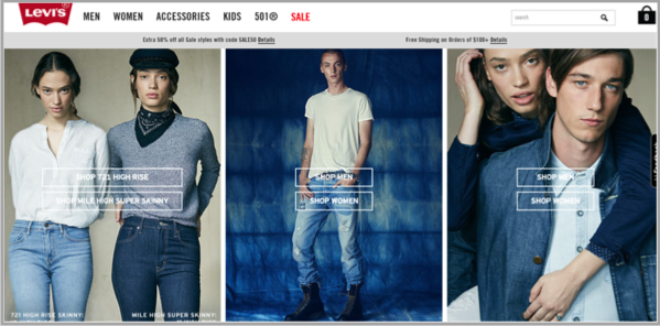 Levi's example of how to make your website awesome