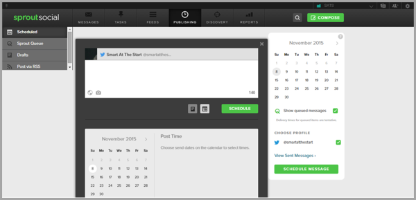 Sprout Social - example of social media management tools