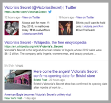 Victoria's secret example to optimize your social media posts for search engines