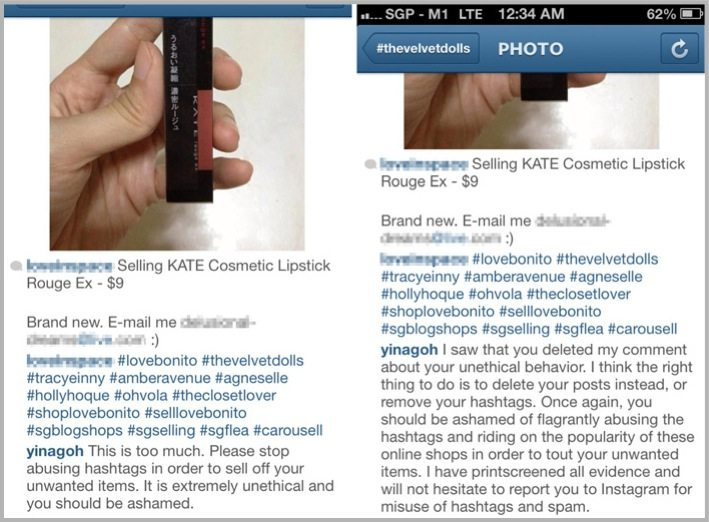 inappropriate use of hashtags - example of Instagram marketing mistakes