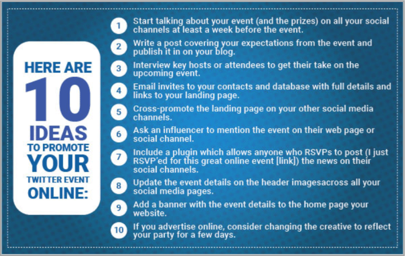 10 ideas for Twitter event