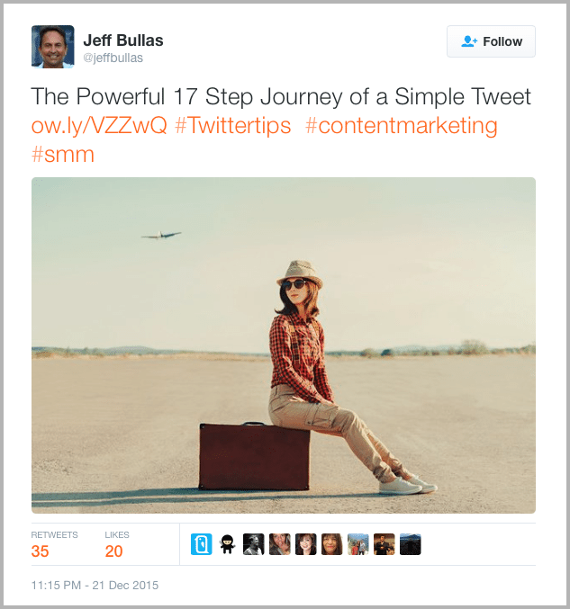 Jeff twitter as example for B2B social media marketing campaign