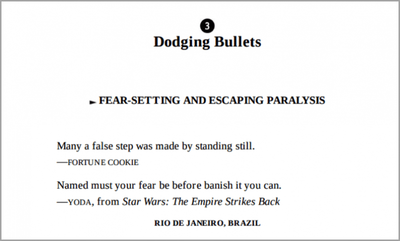 Dodging bullets quote - example of visuals to get more social shares
