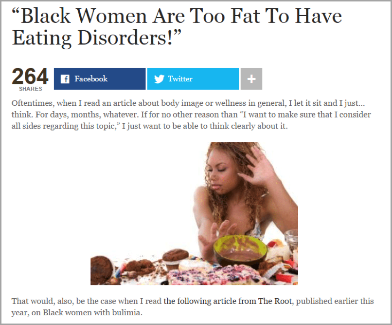 Erika Nicole Kendall - example of unconventional blog results