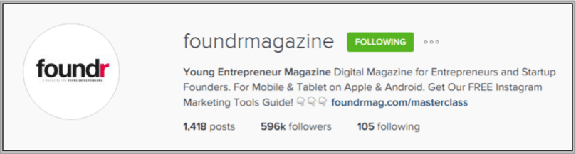 Foundr Magazine - how to build an instagram following
