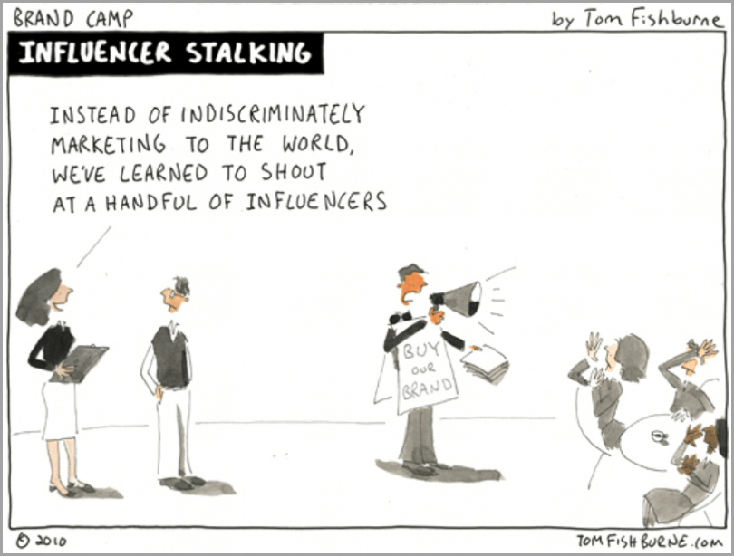 Influencer cartoon - example of visuals to get more social shares