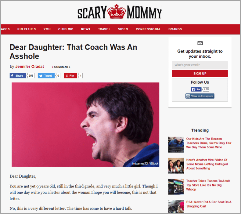 Jill Smokler - example of unconventional blog results
