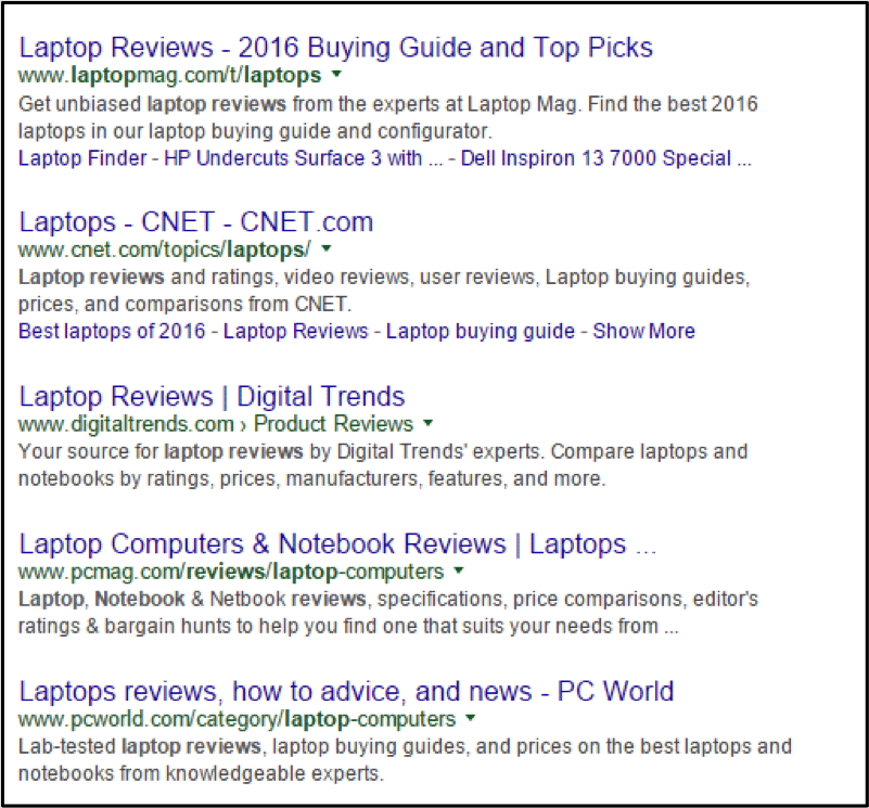 Laptop reviews Google 2 - trend for SEO in 2016
