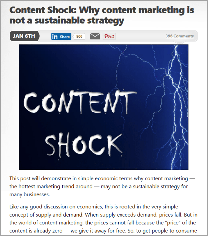Mark Schaefer - example of unconventional blog results