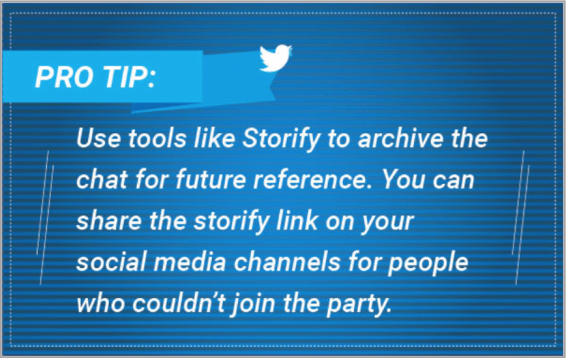 Pro tip 6 - Twitter event