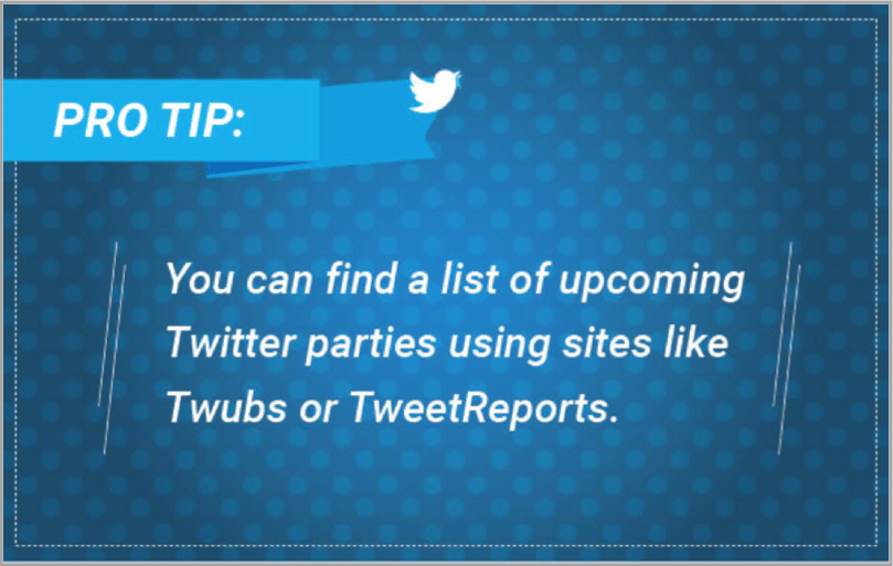 Pro tip - Twitter event