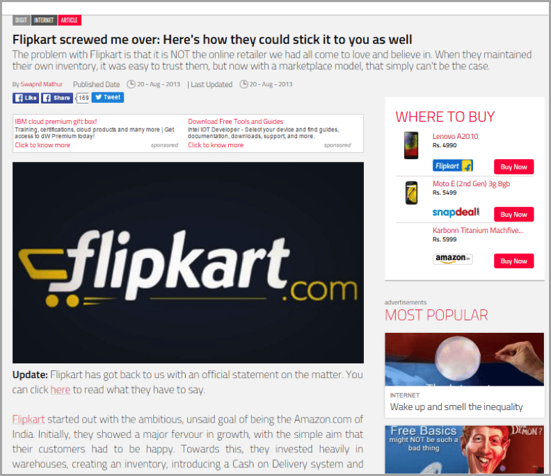 Swapnil example of unconventional blog results