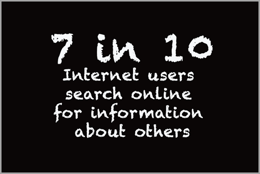 7 in 10 internet users search online for information about others image for search results