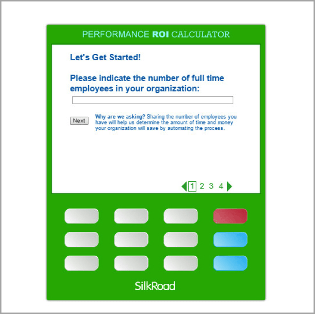 Calculators as example of interactive content