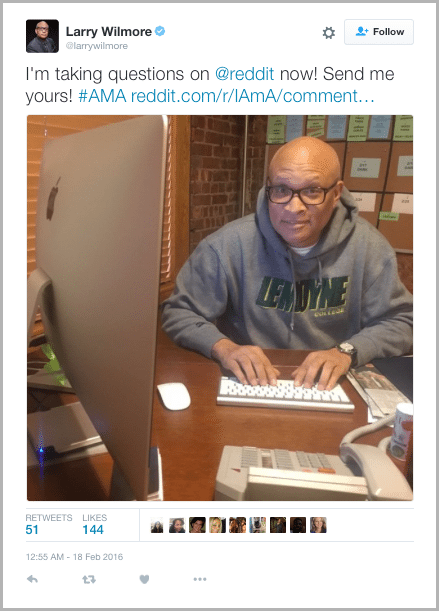 Larry Wilmore Tweet - marketing acronyms