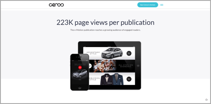 Peugeot example of interactive content